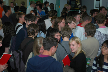 Students arriving at the 4th Annual Year 12 Science and Technology Taster Day