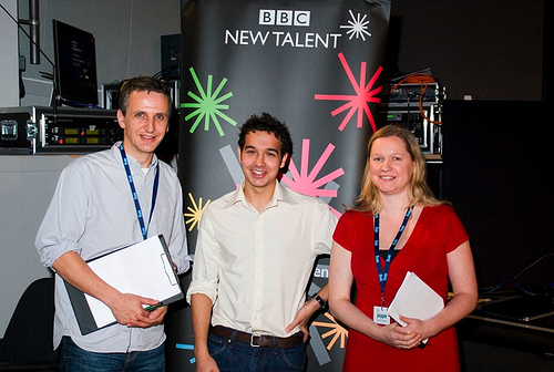 from left: BBC Exec Producer Nick Mirsky , Danny Dewsbury and BBC Commissioning Editor Kate Beetham at the Sheffield Documentary Festival