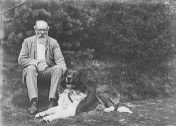 George Allen and dog, c.1900