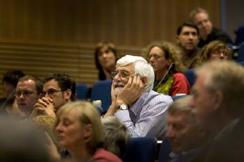 Prof Leech at the ICAME conference in Helsinki 2006: courtesy of Sebastian Hoffmann
