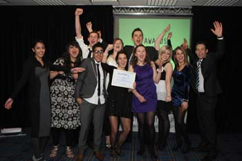 Winners of the Outstanding Social Enterprise Award from Nelson and Colne College