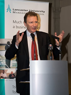 Sir Gus O'Donnell speaking at Lancaster University Management School's annual Professor Sir Roland Smith CEO Lecture.