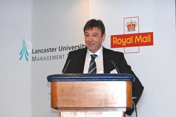 Centre Chair, Tony McCarthy, Royal Mail Group Director, People & Organisational Development