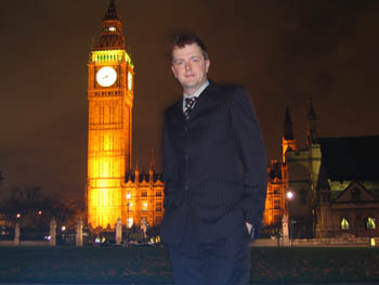 Dr Jim Wild at the Houses of Parliament