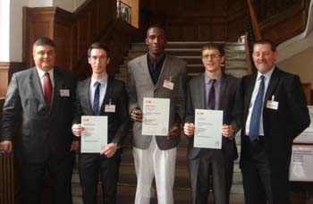 From left: Dr George Aggidis, Oliver Feather, Kingsley Adinnu , Sam Lomas and Robert Brown