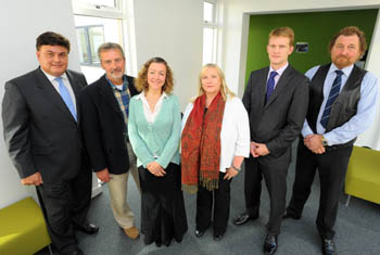 L -R George Aggidis, Nigel Catterson, Gill Nowell, Hazel Broatch, Anthony Hatton, Bob Long