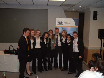 Students at the SIFE awards