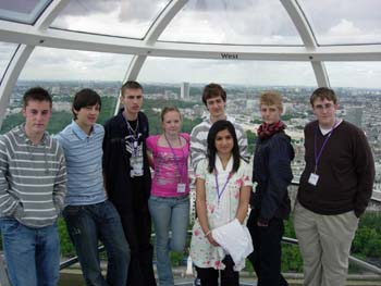 Voltage students on the London Eye